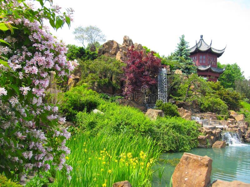 蒙特利尔植物园的中国庭院 库存图片