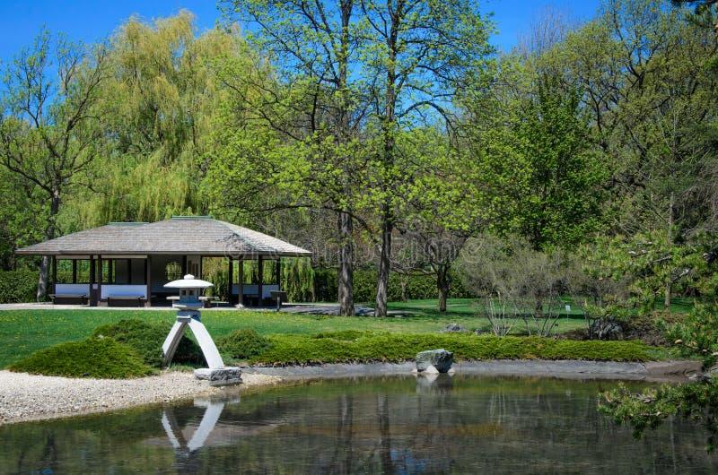 蒙特利尔植物园的日本庭院 库存照片