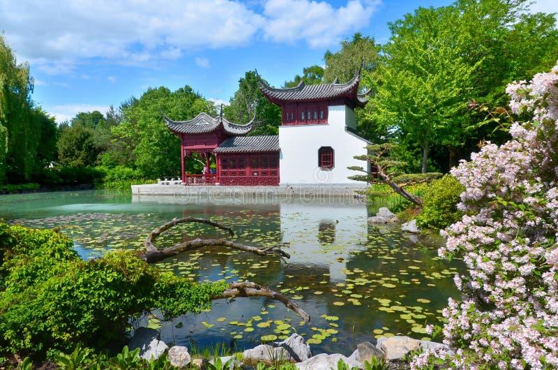 蒙特利尔的植物园 免版税图库摄影
