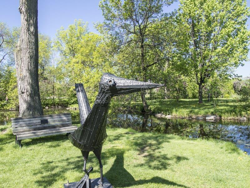 蒙特利尔美丽的植物园  免版税库存照片
