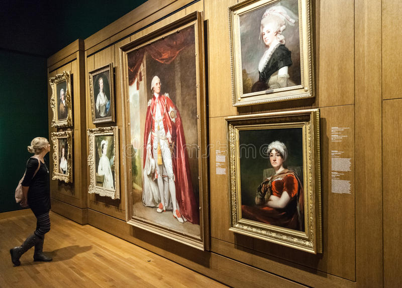 蒙特利尔艺术博物馆室 库存照片