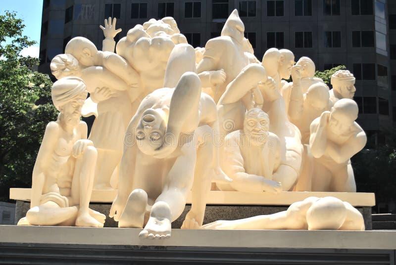 蒙特利尔雕象 免版税图库摄影
