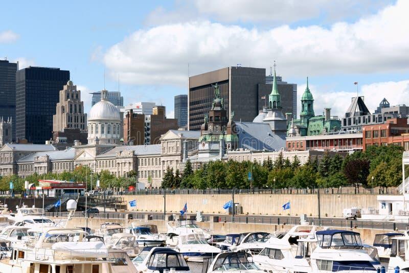 蒙特利尔地平线和港  免版税库存照片