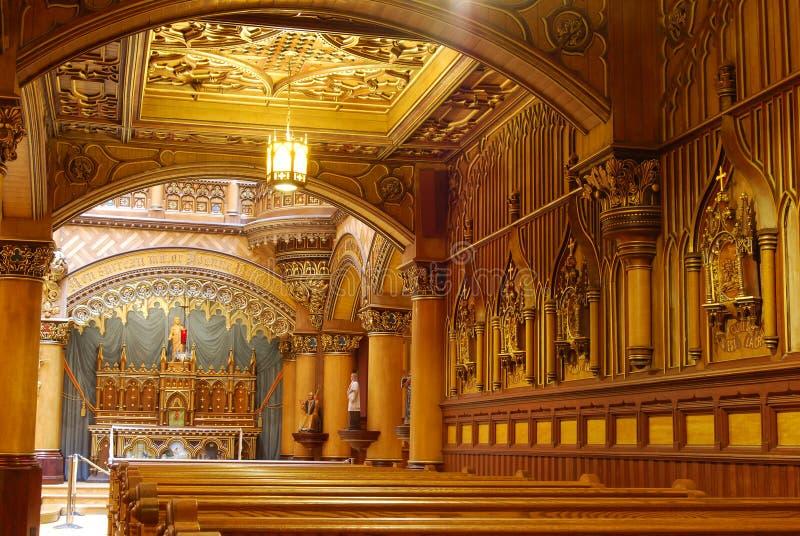 蒙特利尔,蒙特利尔Notre Dame大教堂  库存照片