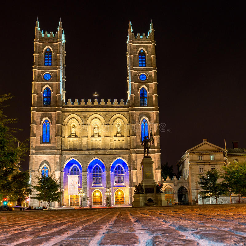 蒙特利尔Notre Dame大教堂 库存图片