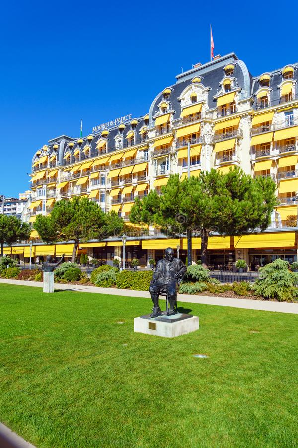 蒙特勒,瑞士- 2017年10月18日:弗拉基米尔N的纪念碑 库存图片