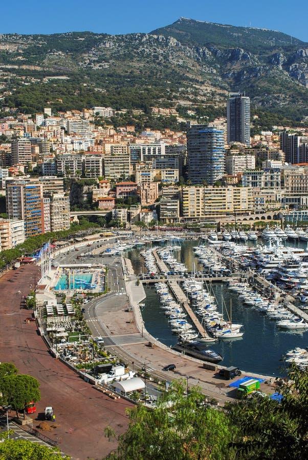 蒙特卡洛,摩纳哥,摩纳哥都市风景都市风景  摩纳哥,法国海滨的公国 库存照片