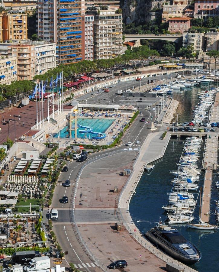 蒙特卡洛,摩纳哥,摩纳哥都市风景都市风景  摩纳哥,法国海滨的公国 免版税库存照片