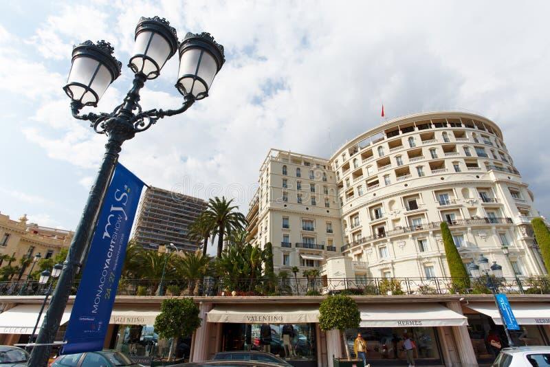 蒙特卡洛,摩纳哥, 25 09 2008年:旅馆de巴黎 库存照片