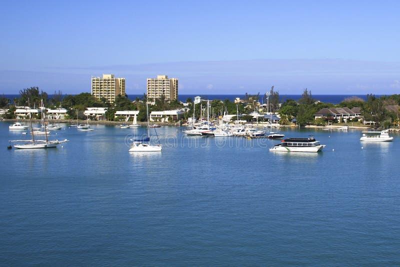蒙特哥贝lagune在牙买加,加勒比 免版税库存照片