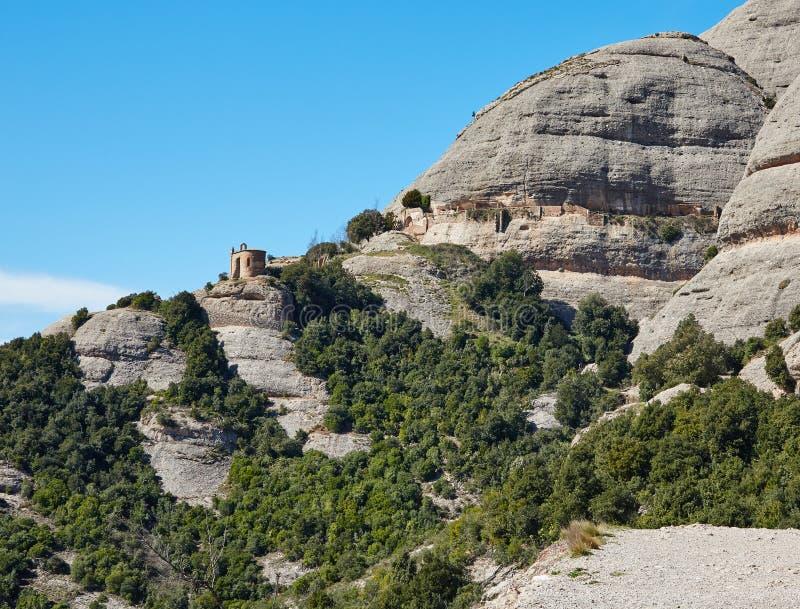 从蒙特塞拉特山的看法  免版税图库摄影