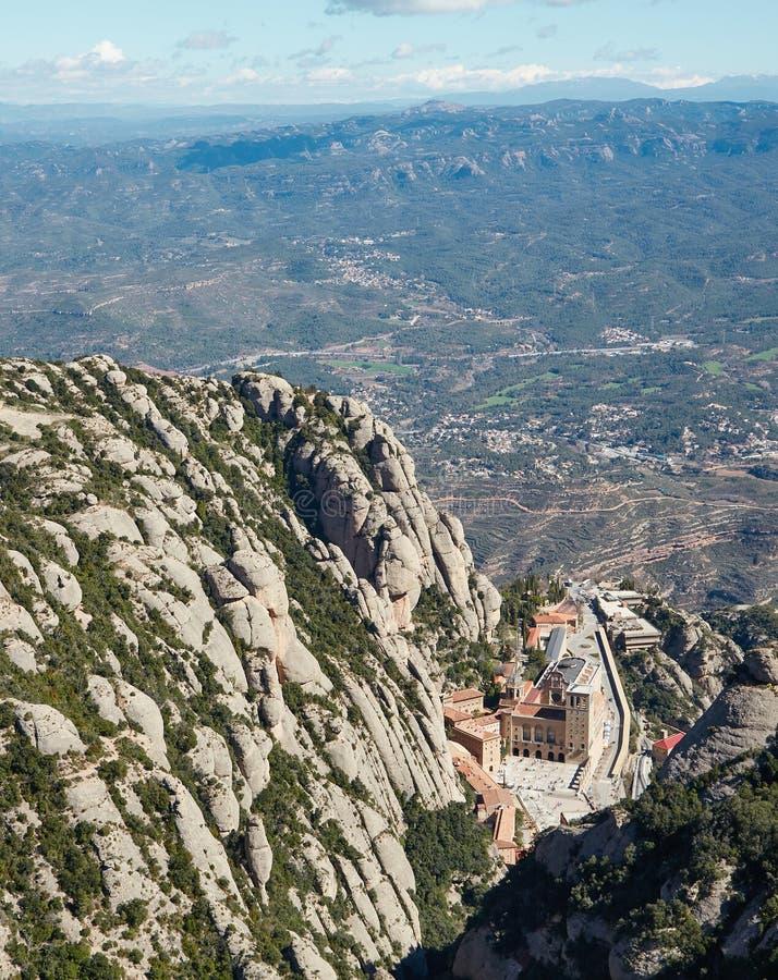 从蒙特塞拉特山的看法  免版税库存照片