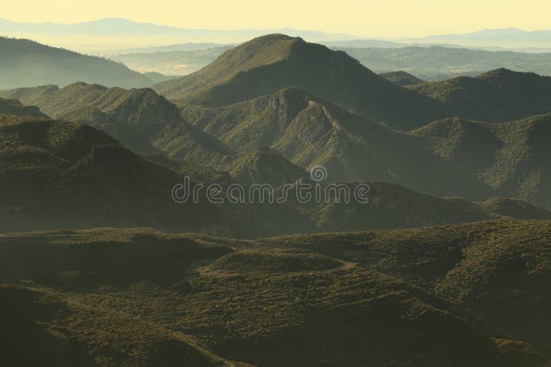 蒙特塞拉特岛山 库存照片