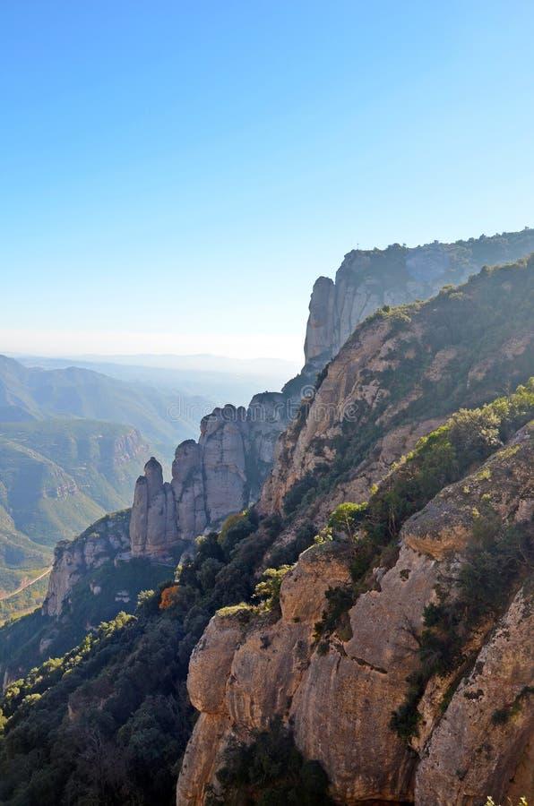 蒙特塞拉特,卡塔龙尼亚,西班牙山  免版税库存照片