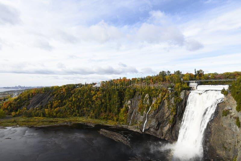 蒙莫朗西落-魁北克-加拿大 免版税库存照片