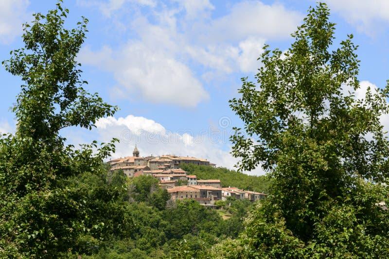 蒙蒂塞洛Amiata (托斯卡纳,意大利) 库存图片