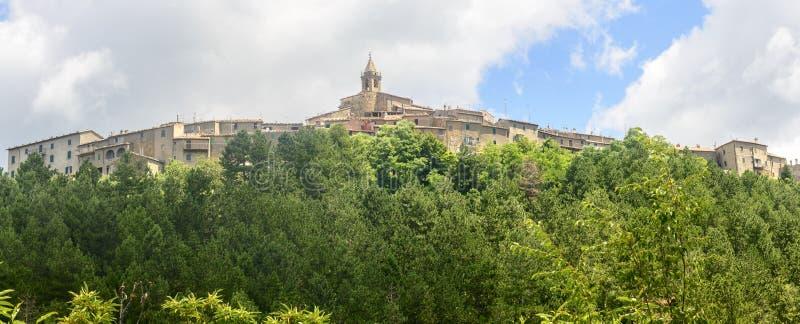 蒙蒂塞洛Amiata (托斯卡纳,意大利) 免版税库存照片
