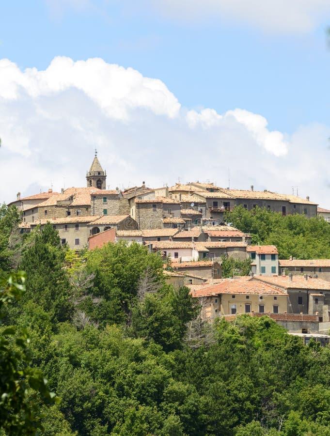 蒙蒂塞洛Amiata (托斯卡纳,意大利) 免版税库存图片