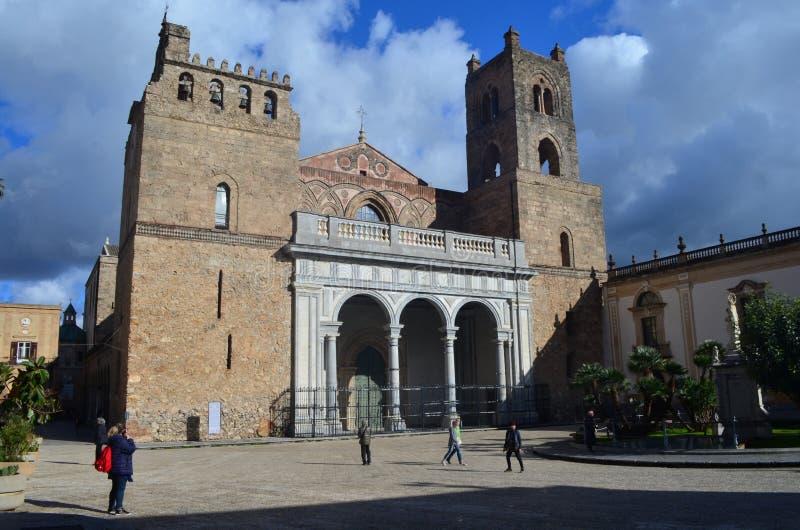 蒙雷阿莱大教堂西西里岛巴勒莫 库存图片