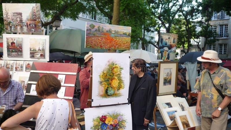 蒙马特在巴黎, Juin,第28, 2009年 免版税图库摄影