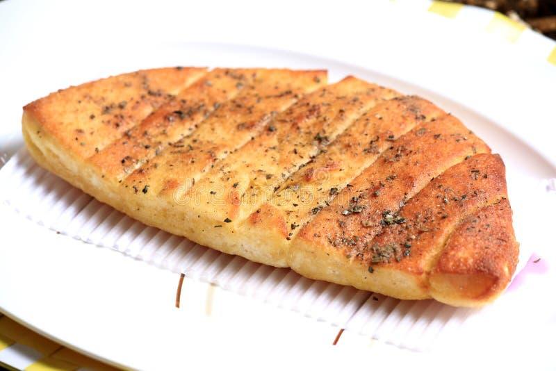 蒜味面包 免版税库存图片