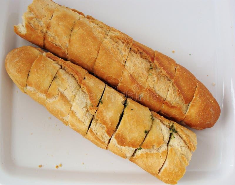 蒜味面包 库存照片
