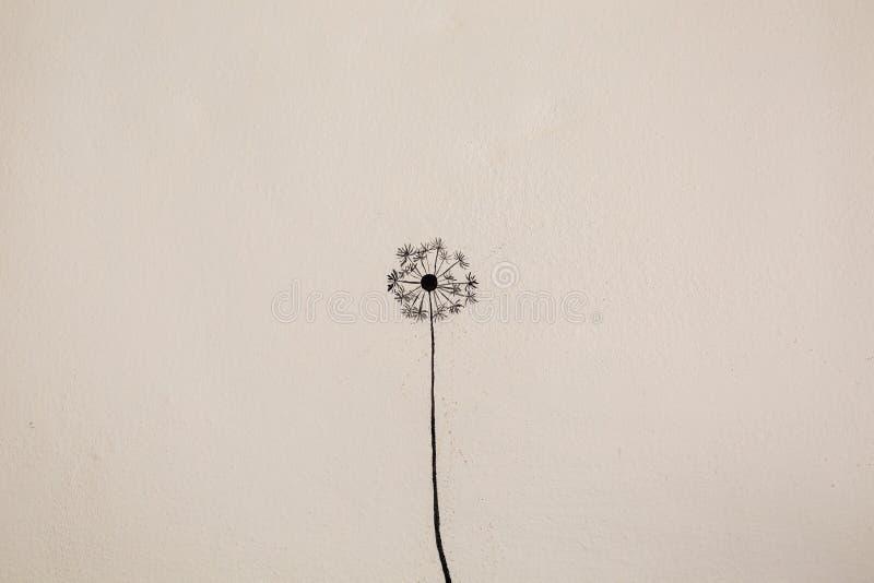 蒲公英花绘画  库存图片