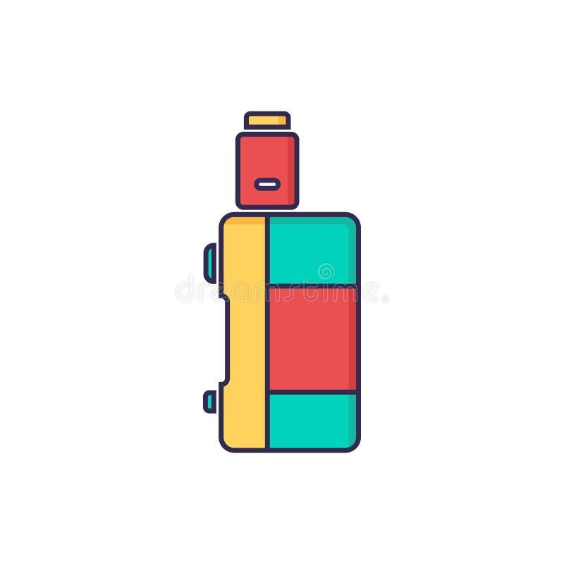 蒸发器电香烟蒸气mod - vape生活 库存例证