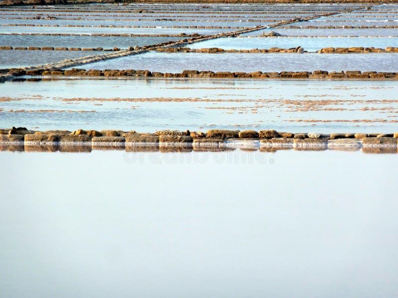 蒸发筑成池塘盐 免版税库存照片