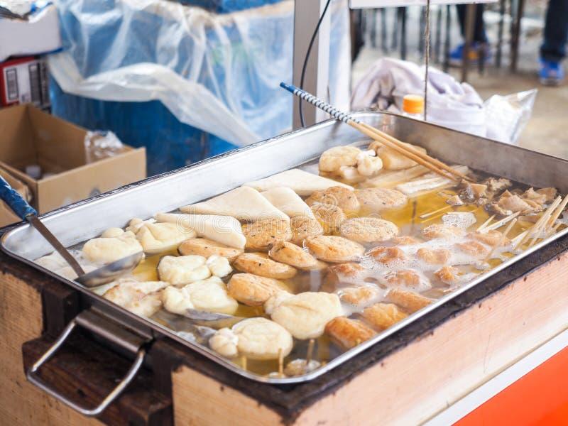 蒸奥登饺子,著名日本料理 图库摄影