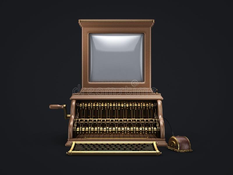 蒸汽低劣的葡萄酒计算机 库存例证