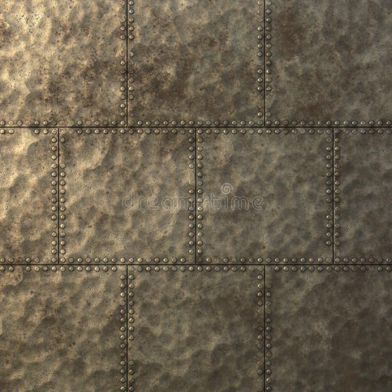 蒸汽低劣的金属片纹理 库存照片