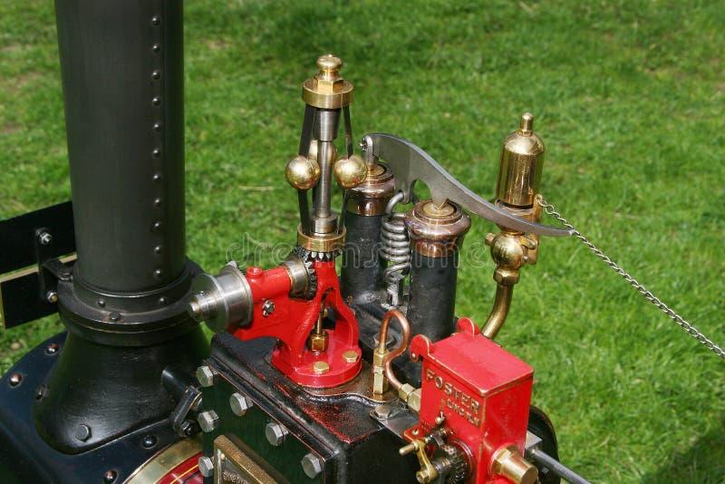 蒸汽在式样牵引车的控制系统 库存图片