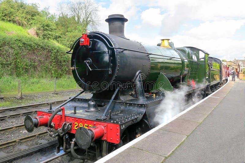 蒸汽引擎在Bridgnorth 库存照片