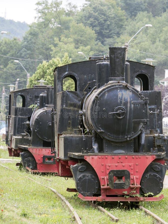 蒸汽机车博物馆, Resita,罗马尼亚 库存照片