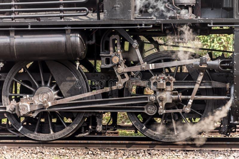 蒸汽机车火车转动系统 图库摄影