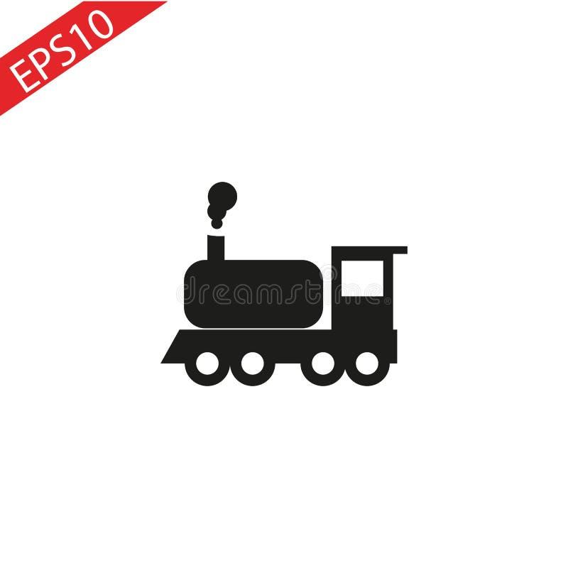 蒸汽机车的牙的传染媒介例证 库存例证
