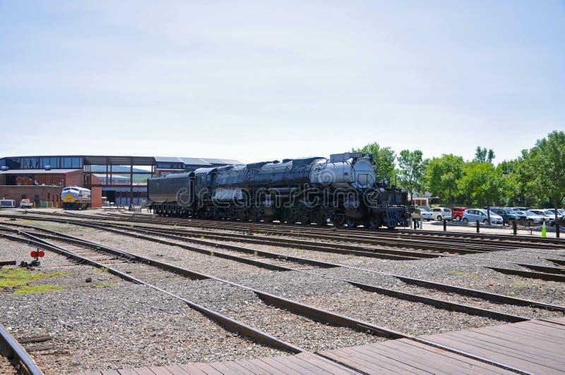 蒸汽机车联合太平洋4012,斯克兰顿,PA,美国 免版税库存照片
