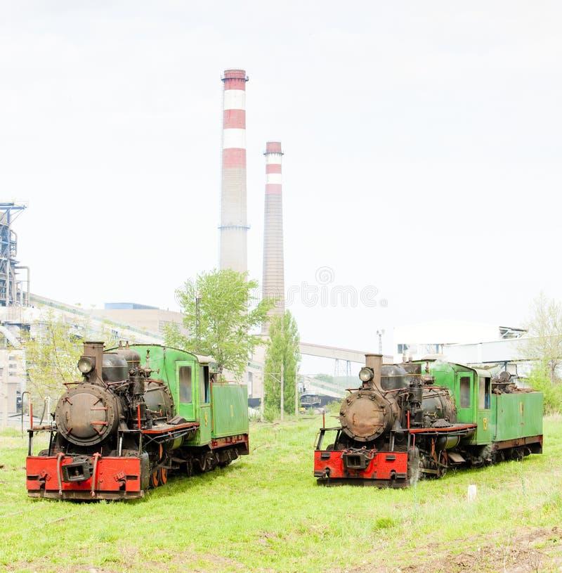 蒸汽机车,科斯托拉茨,塞尔维亚 库存图片