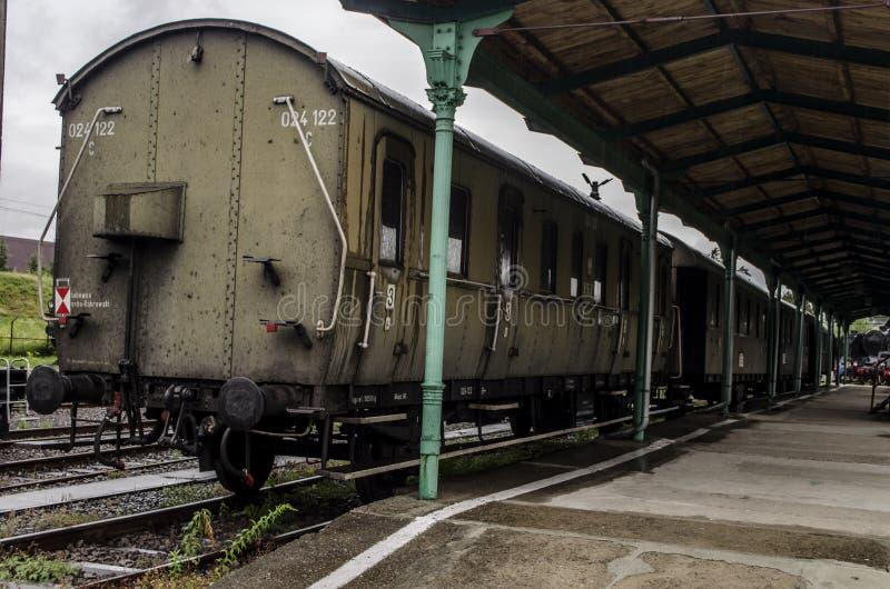 蒸汽机车,铁路 库存图片
