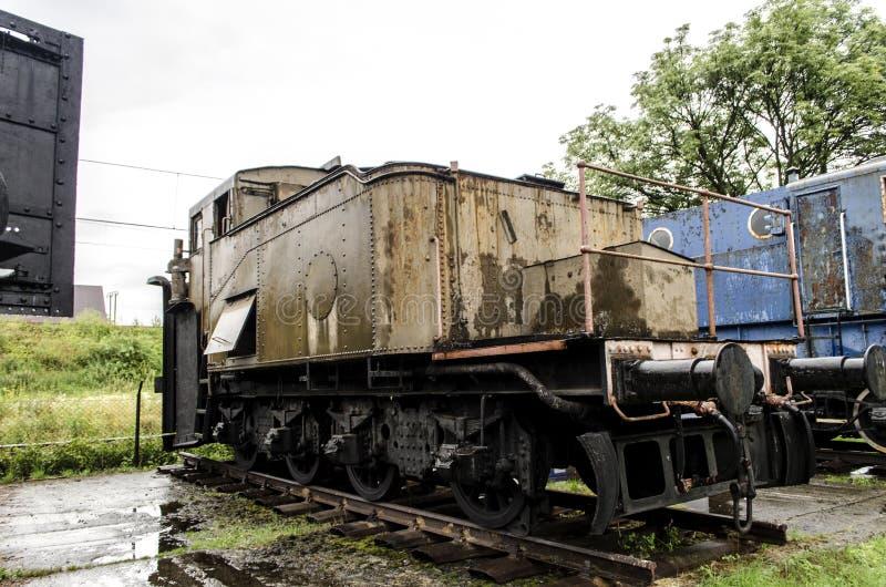 蒸汽机车,铁路 免版税库存图片
