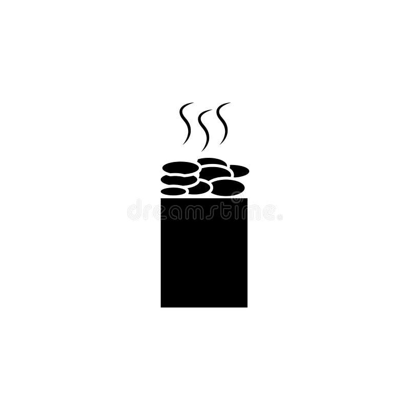 蒸汽浴向象扔石头 卫生间和蒸汽浴元素象 优质质量图形设计 标志,概述标志汇集 库存例证