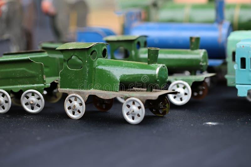 蒸汽火车比例模型  免版税库存照片