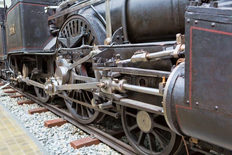 蒸汽火车细节 免版税库存照片