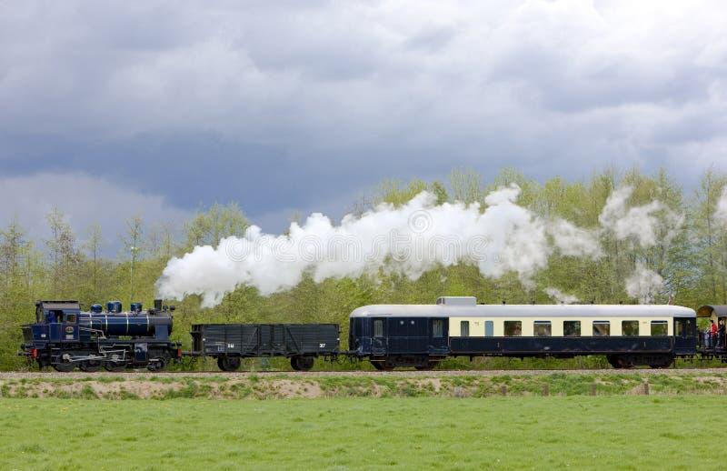 蒸汽火车,布克罗- Haaksbergen,荷兰 免版税库存照片