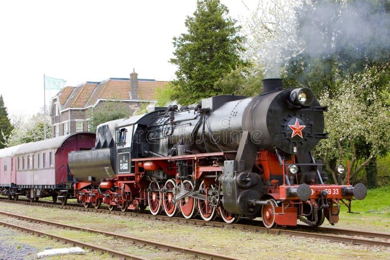 蒸汽火车,芬丹-斯塔茨卡纳尔,荷兰 免版税库存照片