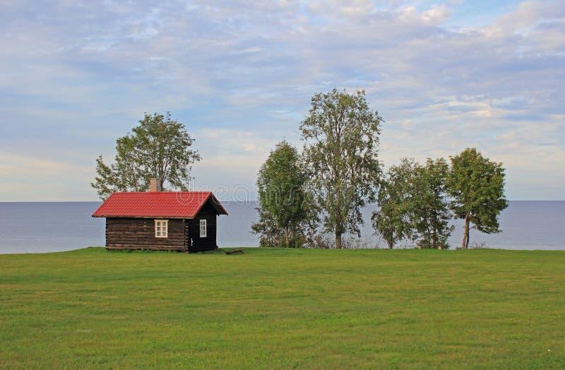 蒸汽浴在爱沙尼亚 免版税库存照片
