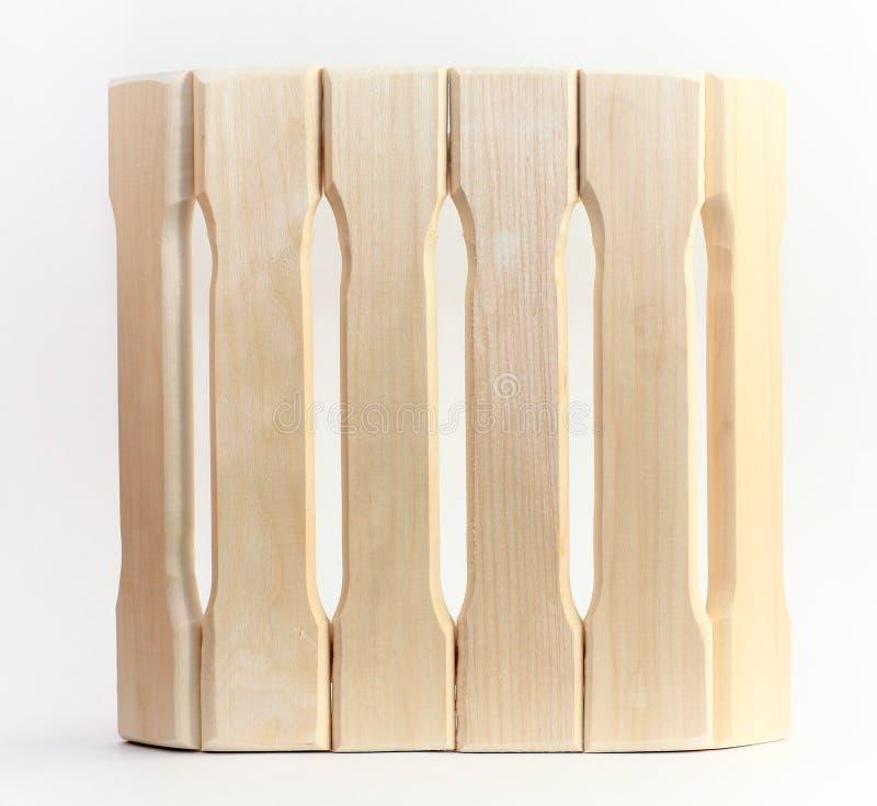 蒸汽浴的木杓子在白色背景 免版税图库摄影