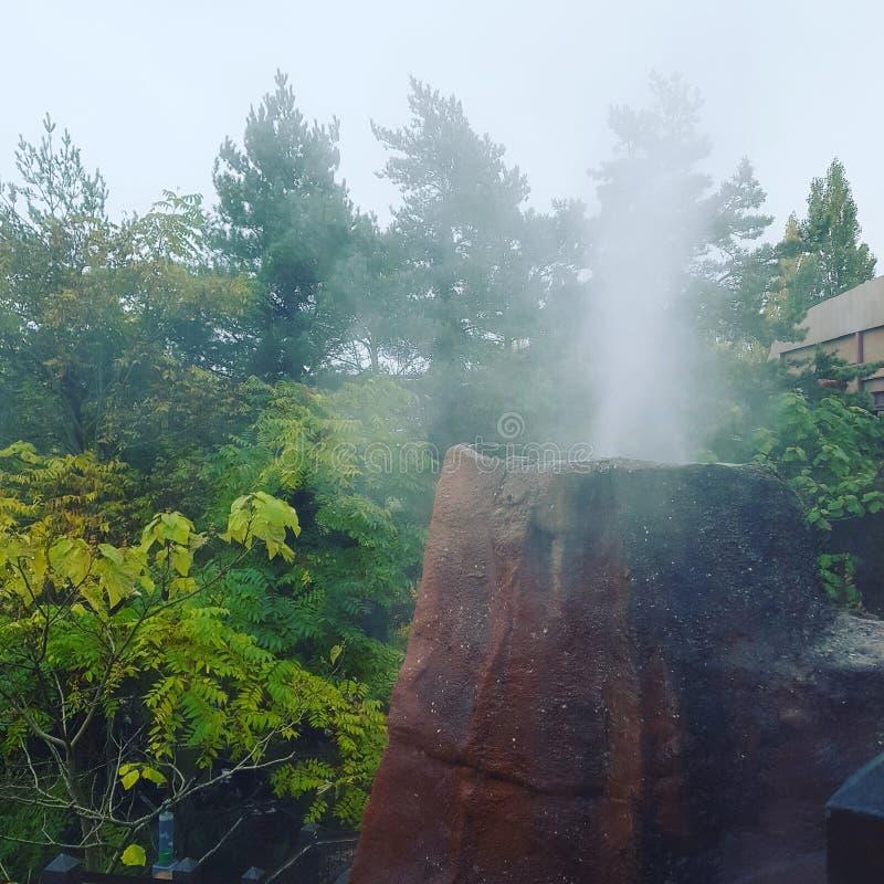 蒸火山的吸引力  免版税库存照片