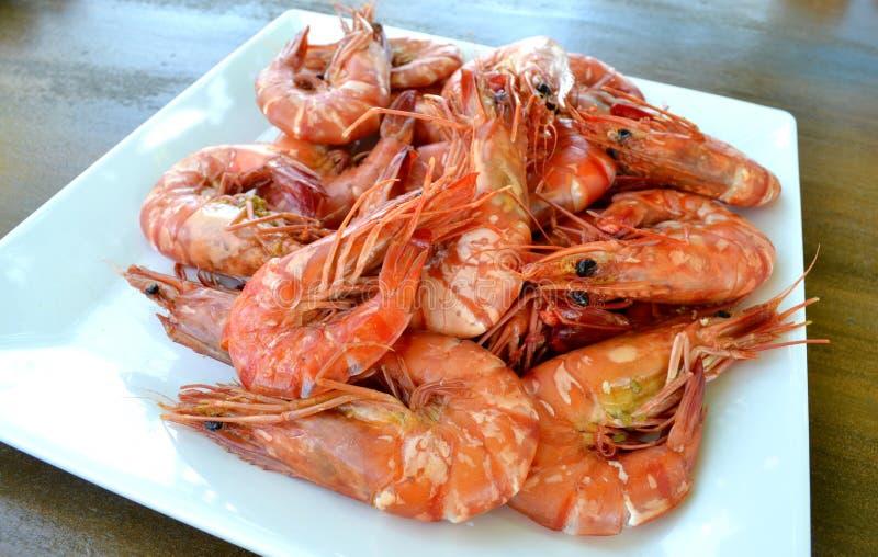 蒸的虾食物 图库摄影